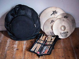 Sabian X20 cymbal set + delux carry case and Stick bag