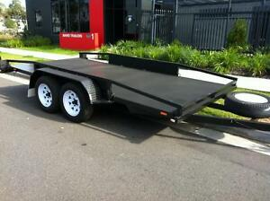 14ftx6.6 TANDEM CAR TRAILER STRAIGHT FLOOR WITH SIDE RAILS Auburn Auburn Area Preview