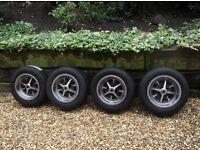 Classic ford deep dish 5.5j steel GT rostyle wheels cortina capri escort anglia corsair etc