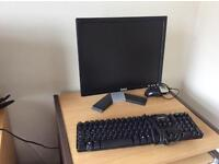 Dell 17inch Monitor and keyboard with workstation