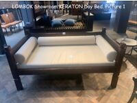 LOMBOK Keraton Carved Solid Teak Day Bed. COST £1.865. Single Bed. Conservatory. VERY HARD TO FIND.