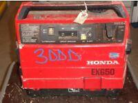 Honda EX650 portable petrol generator