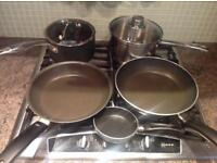 Set of saucepans and frying pans