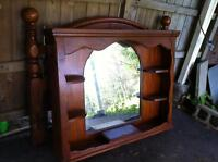 Solid Wood Dresser Mirror Headboard