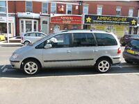 54 ford galaxy 1.9 tddi 7 seater mot june 2017 drives a1 and clean cond priced to sell £1495
