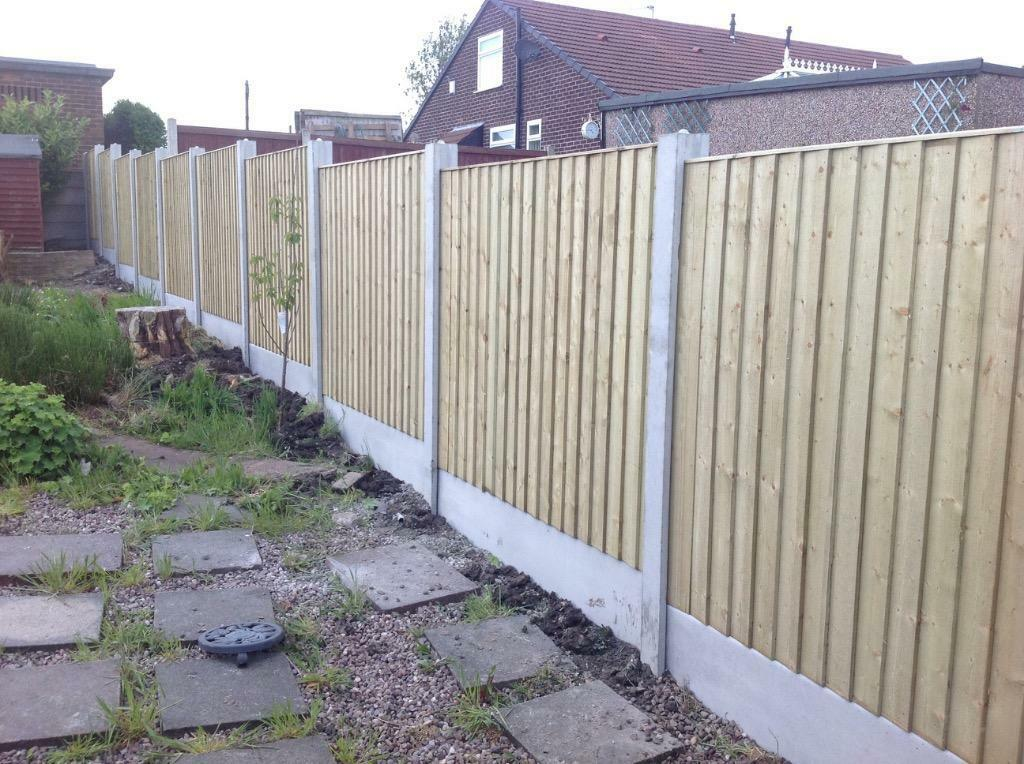 Vertical Board Fencing Pressure Treated In Knutsford