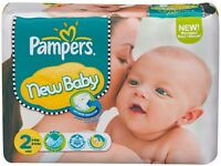 50 x NEWBORN nappys brand new (various brands - mainly pampers)