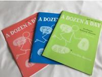 Dozen a day piano tuition books 3 in total