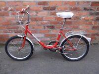 unisex folding bike, 1970