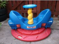 Little Tykes roundabout 'whirly rocket' garden toy - rare