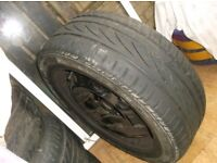 RENAULT LAGUNA 5 STUD STEEL WHEEL C/W 205 X 55 X 16 TYRE , JUST A RUNNER ,SPARE OFF OUR 2004 RENAULT