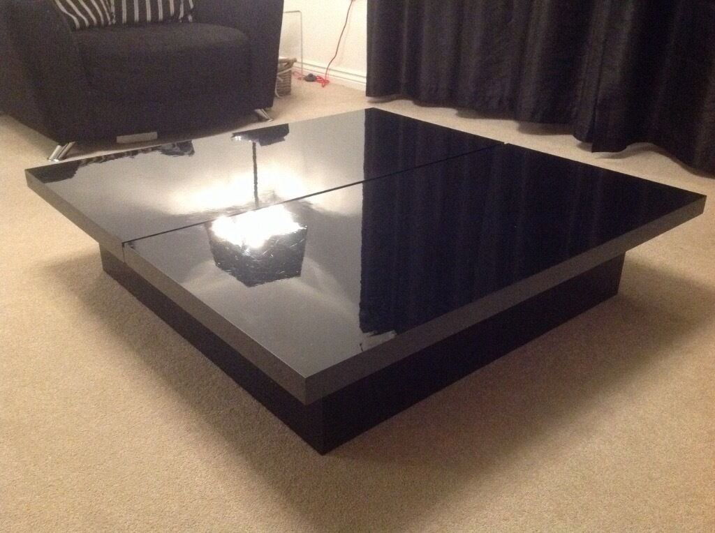 Nice Next Milano Black High Gloss Coffee Table With Large