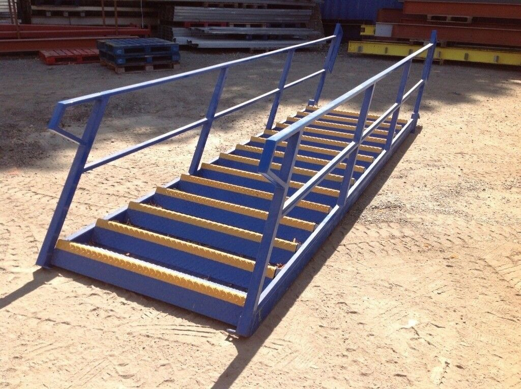 Steel Staircase Fire Escape, Mezzanine Floors, Heavy Duty Staircase, Warehouse  Stairs