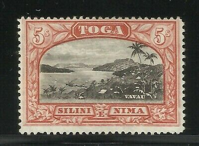 Tonga 1897 5/ Red-Black Early LMint Hinged High Cat Stamp Classic Collection