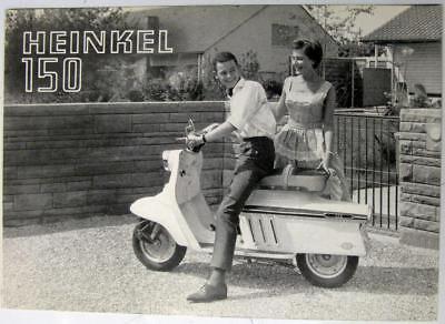 HEINKEL 150 Scooter c 1965 Original Sales Brochure