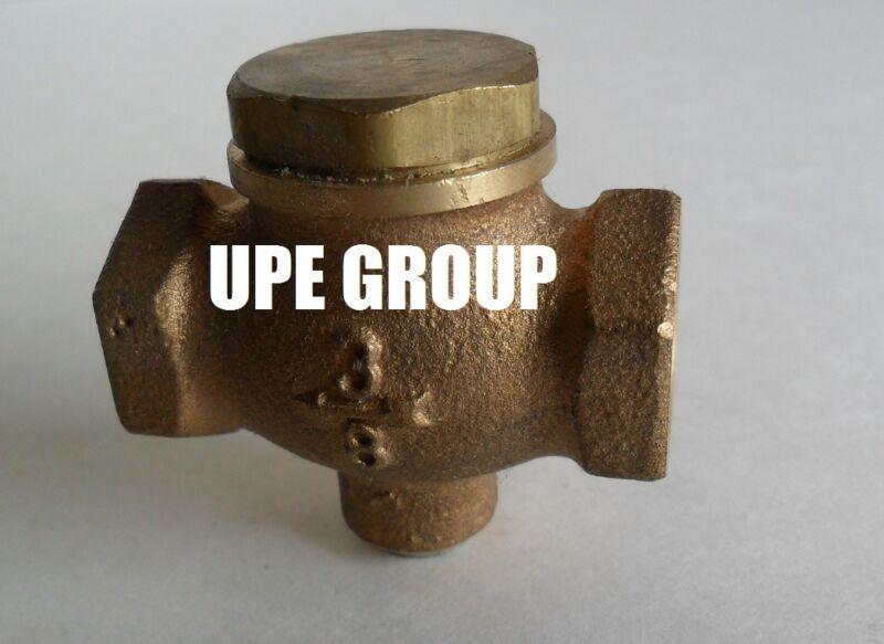 "New 3/8"" CAST brass horizontal check valve air compressor in line vertical"