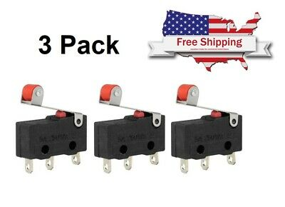 3x Durable Micro Roller Lever Arm Open Close Limit Switch Kw12-3 Microswitch