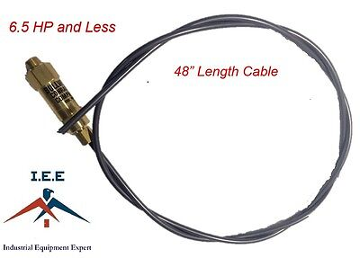 New Throttle Control Cable For Gas Air Compressors Unloader Bullwhip 48
