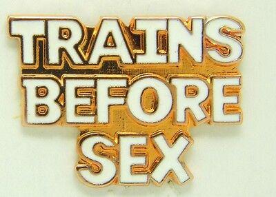 Railroad Hat-Lapel Pin/Tac- Trains before sex #1653-NEW