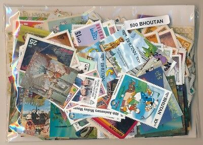 Bhutan       US 500 sellos diferentes