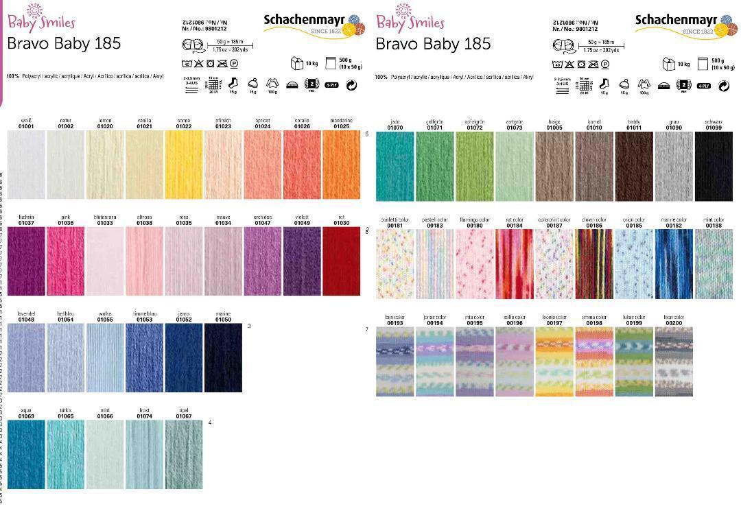Angebot Schachenmayr Babywolle Bravo Baby Smiles 185 speichelecht Uni und Color