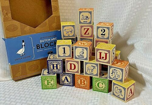 Uncle Goose Dutch ABC Number Animal Wooden Blocks