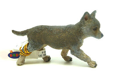 T2) PAPO (50162) Wolf Welpe Raubtier Wildlife