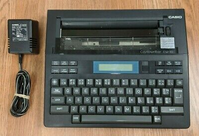Casiowriter Cw10 Portable Electronic Battery Powered Typewriter Word Processor