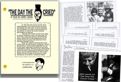 THE DAY THE CLOWN CRIED FILM SCRIPT FROM UNRELEASED JERRY LEWIS MOVIE