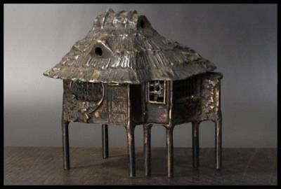 BI11 Japanese Antique Bronze Incense Burner Kuzuya shape / Japan SADO KODO