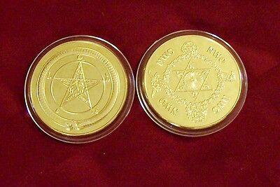 Baphomet Secret Society Occult NWO Illuminati Member Order Coin 666 999 Demon X