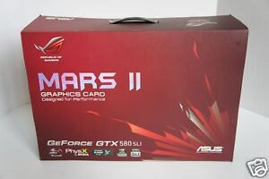 ASUS MARS II GTX580 SLI Graphics Card Fast video card 999/720 (GTX690)