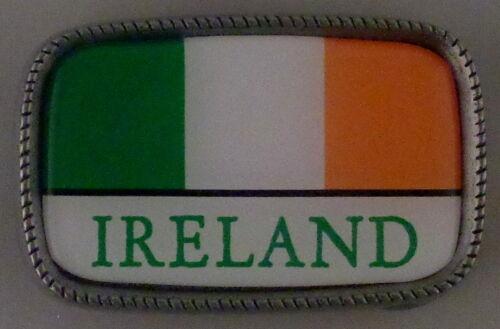 IRELAND FLAG Antique Silver Belt Buckle USA MADE Irish