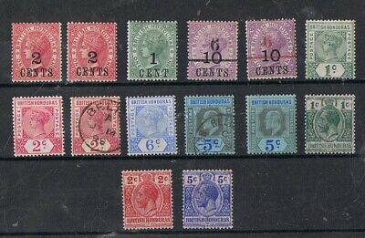BRITISH HONDURAS - Lot of old stamps