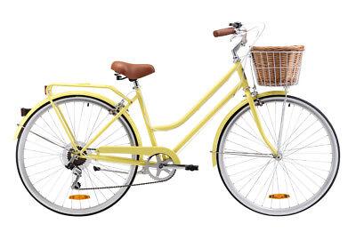 Reid Ladies Lite 7 Speed (Lemon) 52cm Frame 700c Beach Cruiser Bicycle