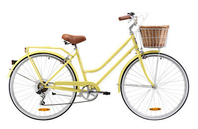 Reid Ladies Classic 7 Speed (Lemon) 42cm 700c Beach Cruiser Bicycle