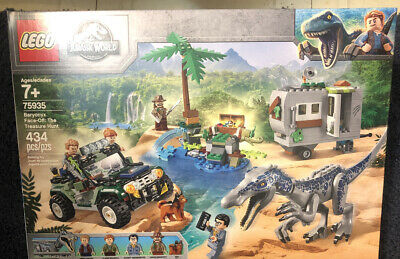 Lego Jurassic World Baryonyx Face-Off The Treasure Hunt Toy 434pcs 75935