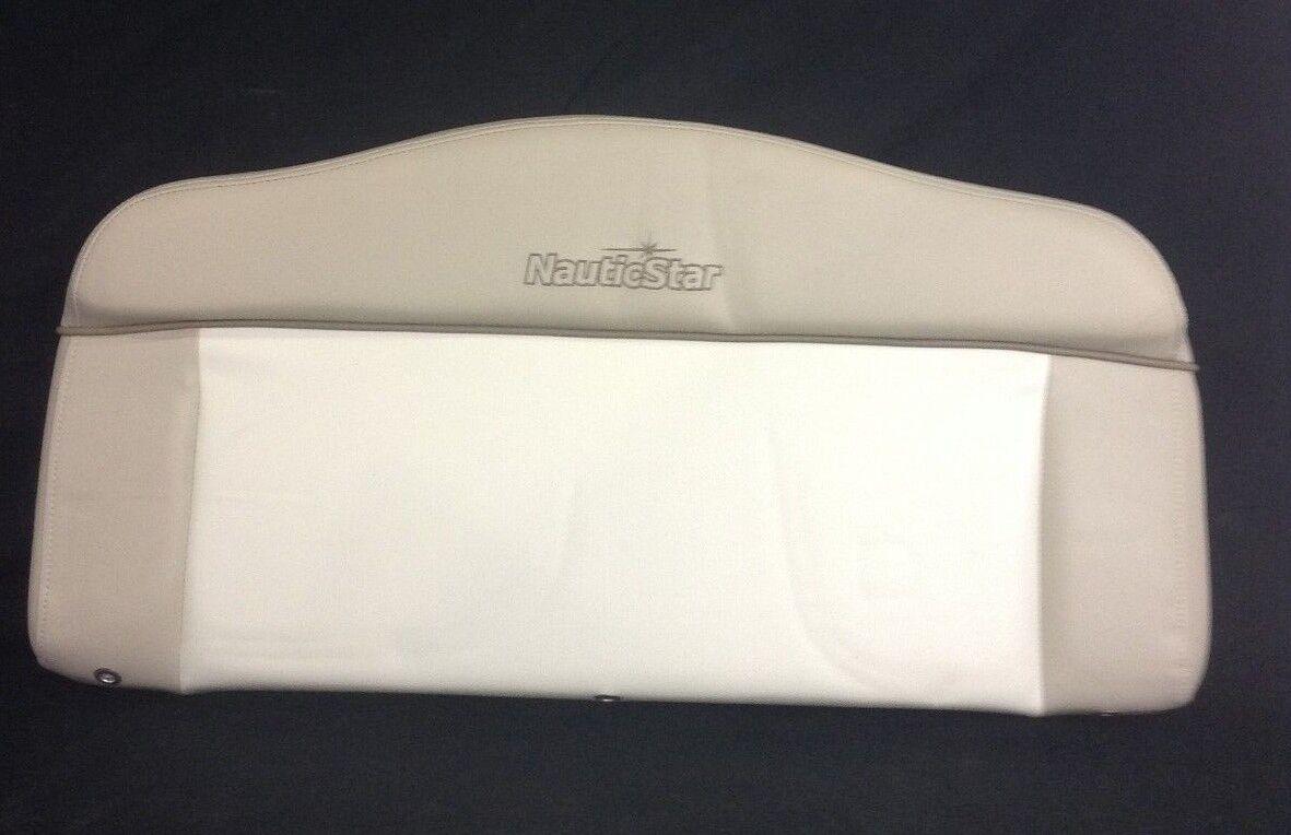 New Nautic Star 28/25XS Forward Console Backrest Cushion 2 Tone W/ Stitched Name