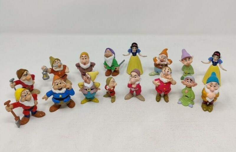 Vintage 1993 Mattel Disney Snow White & The Seven (Dwarfs PVC Figures) Lot of 18