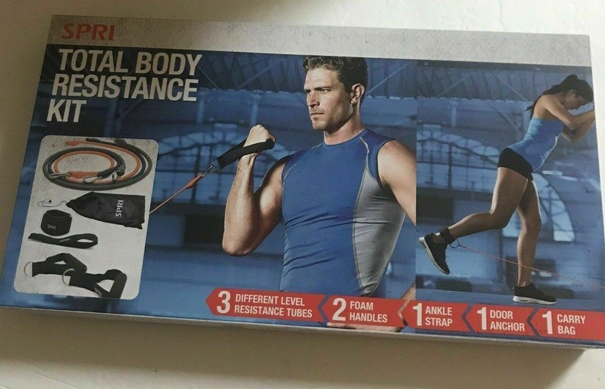 SPRI Exercise Total Body Resistance Band Kit NEW Sealed Workout Fitness Strength - $9.99