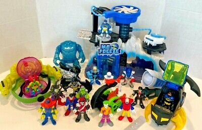 Imaginext Mr Freeze Headquarters, Ion Orbiter, Batman Helicopter And Figures