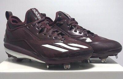 newest db0ae f1f24 Adidas Mens Size 7.5 Energy Boost Metal Baseball Cleats SPG 753001 Maroon  White