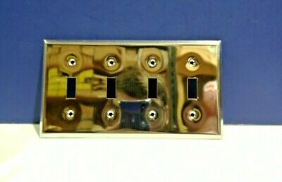 Chrome Light Switch (Deluxe Chrome 4-Gang Toggle Light Switch Wall Plate 104-C by Perfect Line NEW)