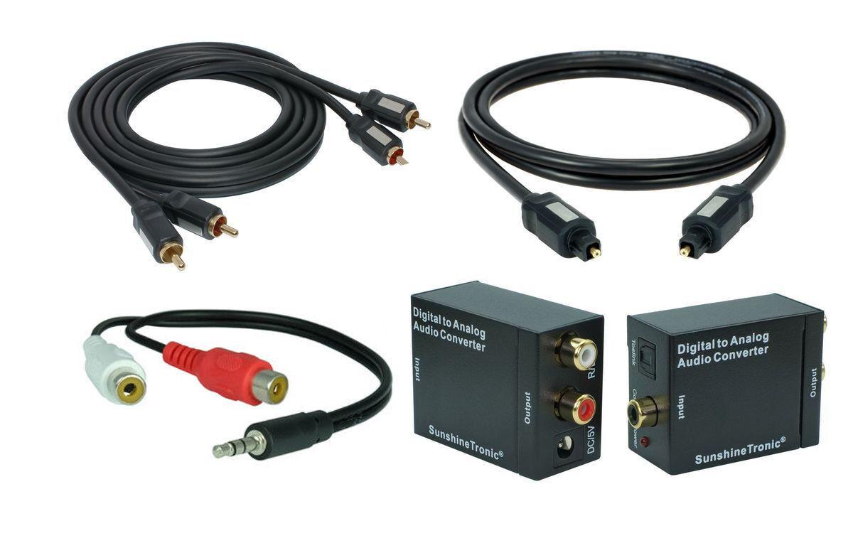 digital zu analog audio konverter 1 5m toslink cinch kabel klinke cinch adapter ebay. Black Bedroom Furniture Sets. Home Design Ideas