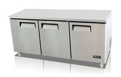 Migali C-u72r Under-counter Work Top Refrigerator Three Solid Doors Warranty