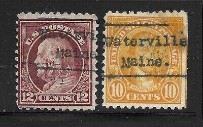 Maine Precancels - Waterville L-3 - 2 Items