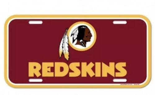NFL Washington Redskins  License Plate Football Decor Auto C