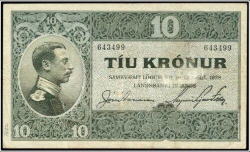 Landsbanki Iceland, 10 kronur, (1929)