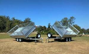 3 WAY TIPPING Galvanised Tandem 3.5 Ton Tipping Trailer Coffs Harbour Area Preview