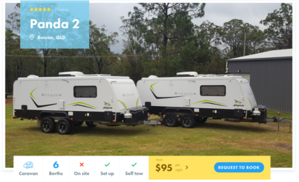 6 Berth Caravan FOR HIRE in Buccan from $95/night